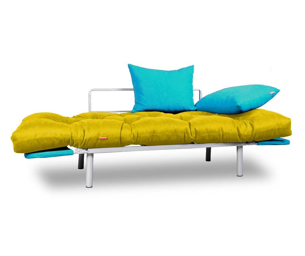 Sofa extensibila Relax Yellow Turquoise