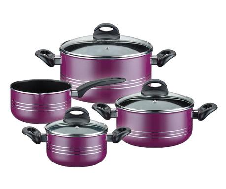 Комплект  съдове за готвене  7 части Milano Lilac