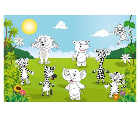 Тапет Happy Animals 115x175 см
