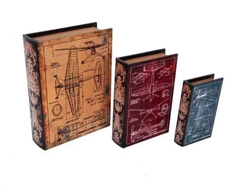 Комплект 3 кутии тип книга Planos