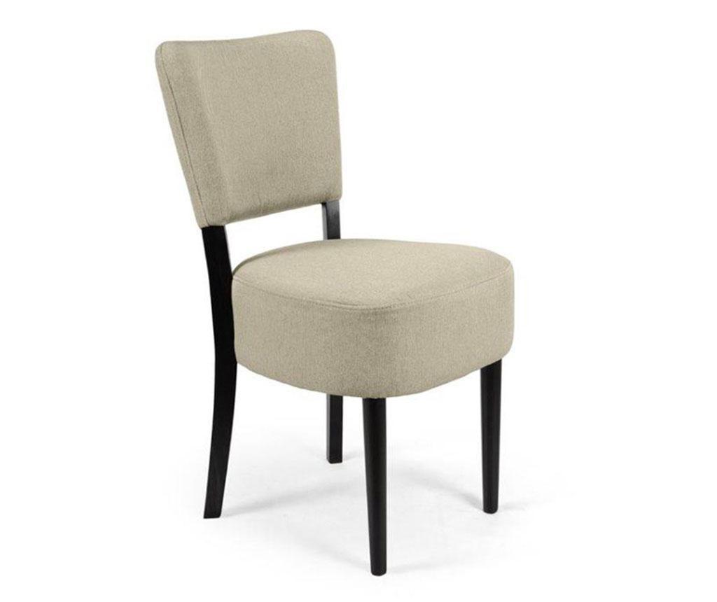 Stolica Nisa Light Grey Simple Classic