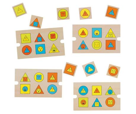 Gra edukacyjna 28 elementów Funny Geo Faces