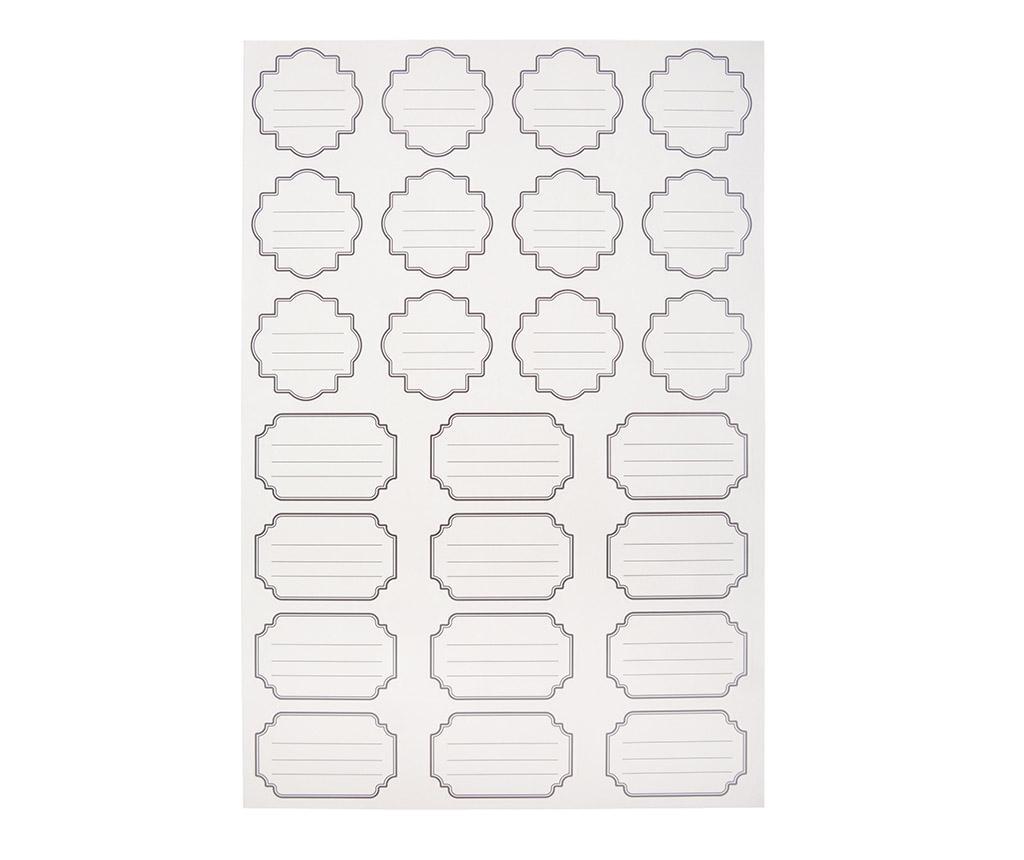 Set 96 etiketa za staklenke Jars