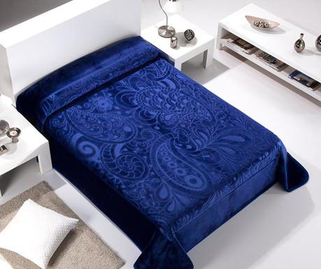 Κουβέρτα Paisley Blue 240x260 cm