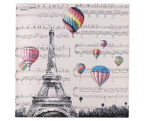 Tablou Ballons Eiffel 60x60 cm
