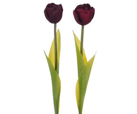 Zestaw 2 kwiatów sztucznych Tulips