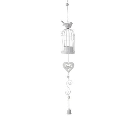 Závěsný stojan na svíčku Birdcage Heart