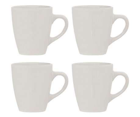 Set of 4 mugs Sienna Ivory 350 ml
