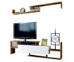 Set TV omarica in stenska polica Dream Walnut