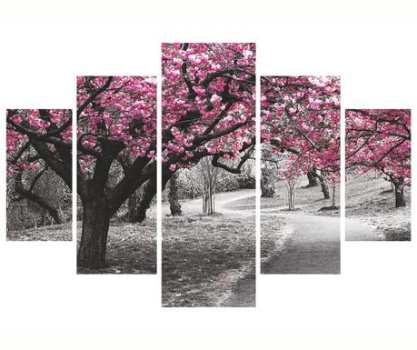 Sada 5 obrazů Sakura