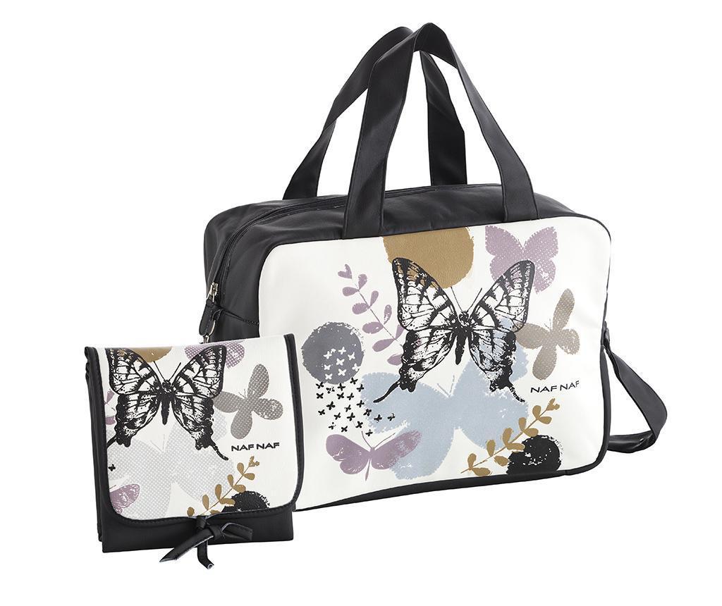 Set torba i sklopiva podloga za mijenjanje pelena Butterfly Black