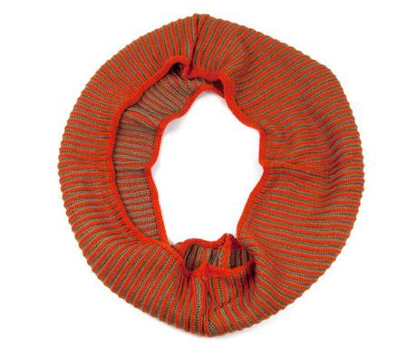 Szal kominowy damski Knit Orange 30x140 cm