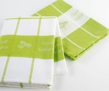 Set of 2 kitchen towels Nature 50x70 cm