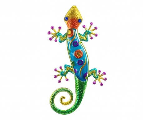 Decoratiune de perete Lizard Flowers Blue