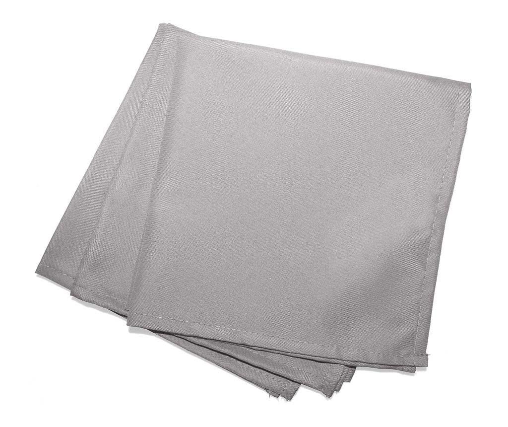 Set 3 stolna ubrusa Essentiel Grey 40x40 cm