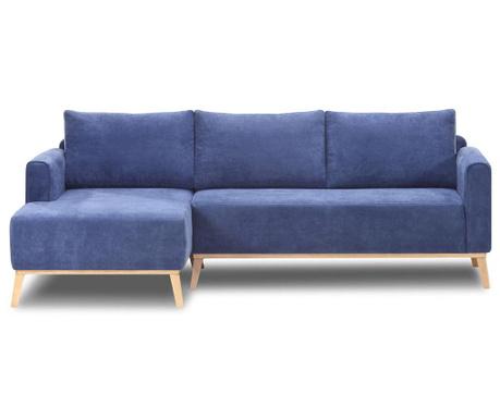 Leva kotna sedežna garnitura Campos Blue
