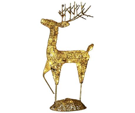 Светеща декорация за екстериор Reindeer Star Gold