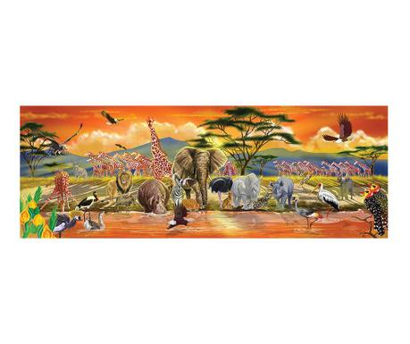 Puzzle podłogowe 100 elementów Safari Sunset
