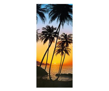 Тапет за врата Sunny Palms 86x200 см