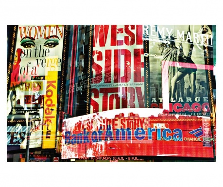 Tapet Times Square Neon Stories 115x175 cm