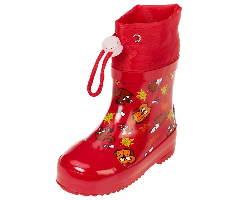 Cizme de ploaie copii Forest Animals Red 22