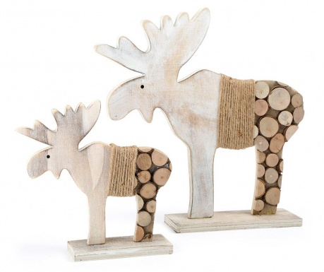 Set 2 decoratiuni Elk Tree