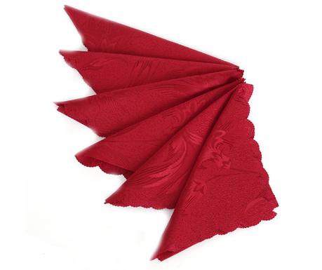 Sada 6 servítok Pure Red