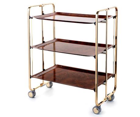 Sklopiva kolica za posluživanje Star Maxi Gold Brown