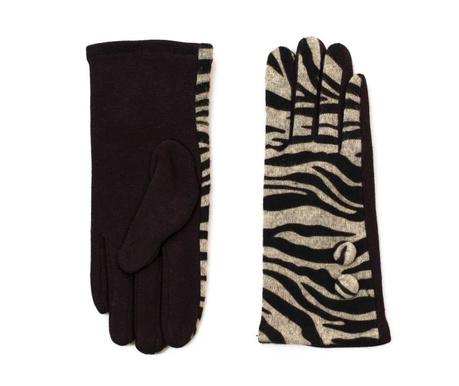 Γάντια γυναικεία Zebra Black