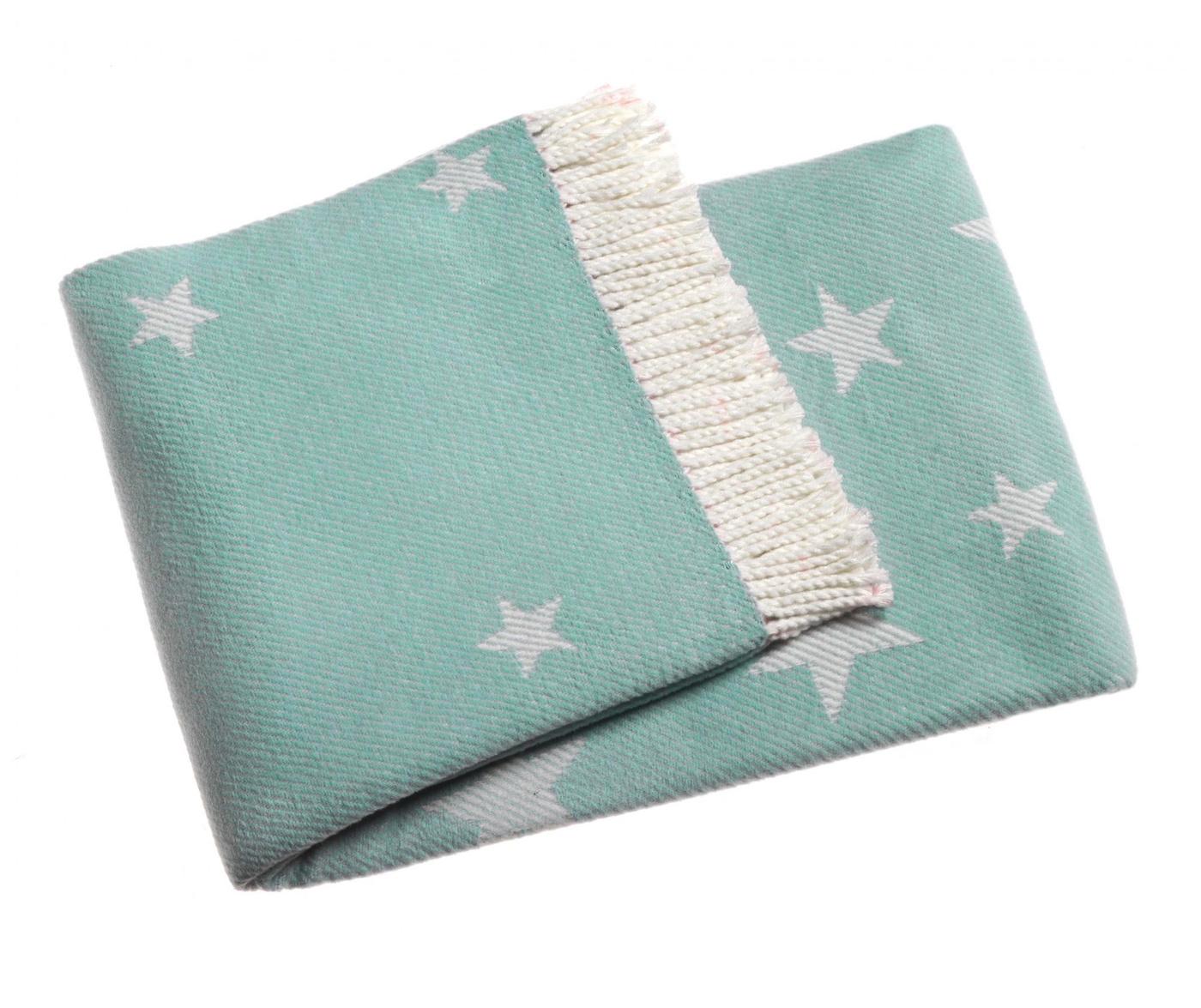 Stars Pastel Blue Pléd 140x180 cm