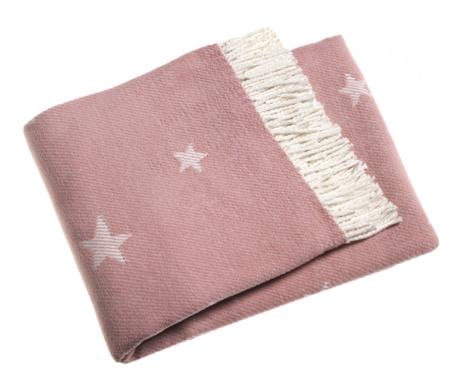 Priročna odeja Stars Pink 140x180 cm