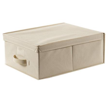 Shranjevalna škatla s pokrovom Life Ecru