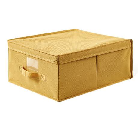 Úložná krabice s víkem Simina Yellow