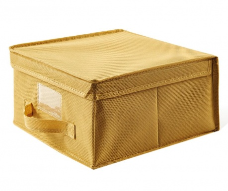 Úložná krabice s víkem Monik Yellow