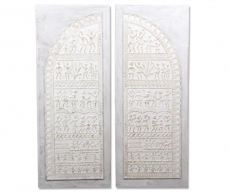 Set 2 tablouri Peasant Door 60x150 cm