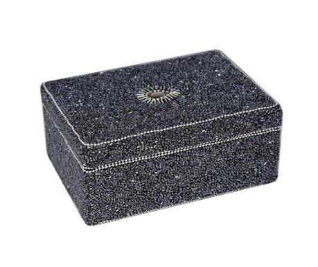 Szkatułka na biżuterię Glitter Black