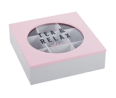 Cutie cu capac pentru ceai Relax Pink