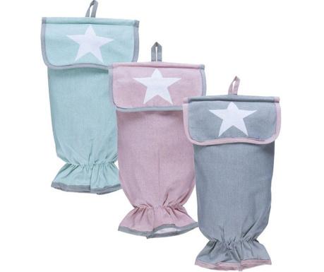 Set 3 huse pentru depozitare Pastel Stars