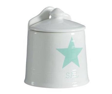 Recipient cu capac pentru sare Star Green