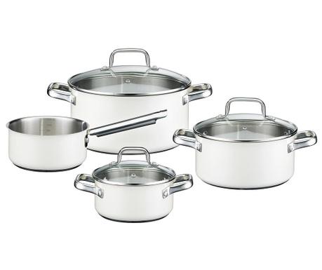 Комплект съдове за готвене 7 части Velly White