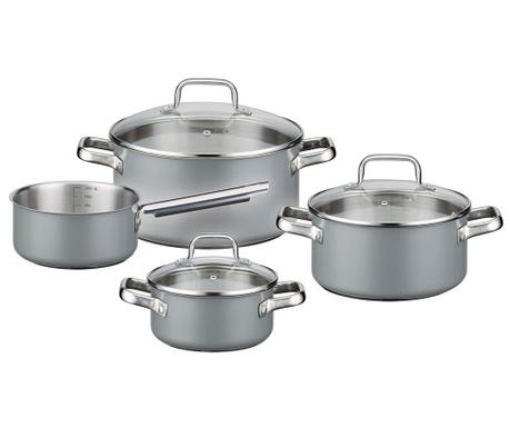 Комплект съдове за готвене 7 части Velly Grey