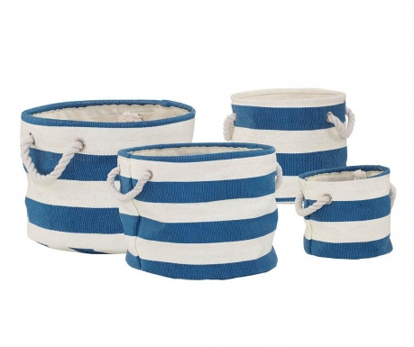 Set 4 košare Nautical Blue