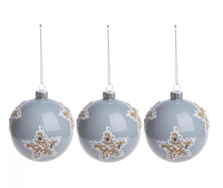 Set 3 globuri decorative Paint