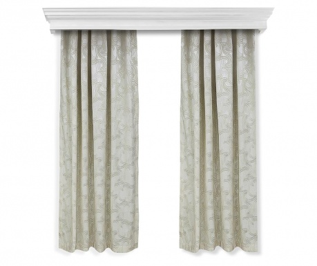 Set of 2 drapes Windy Beige 140x260 cm