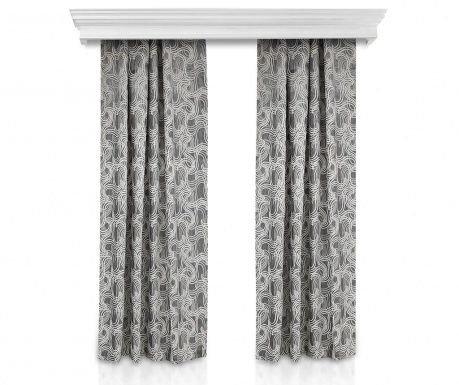 Set of 2 drapes Windy Grey 140x260 cm