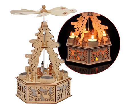 Διακοσμητικό φωτιστικό με 4 βάσεις για κεριά Christmas Tree