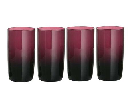 Сервиз 4 чаши Ava Tall Purple 400 мл