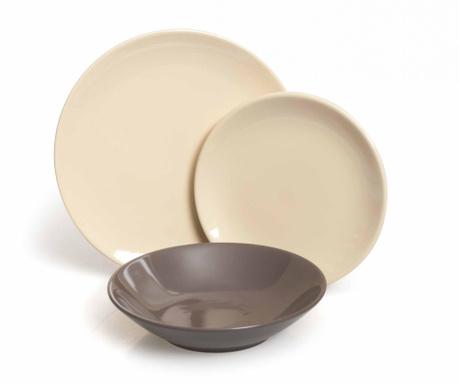 Сервиз за хранене 18 части Servizio Cream & Grey