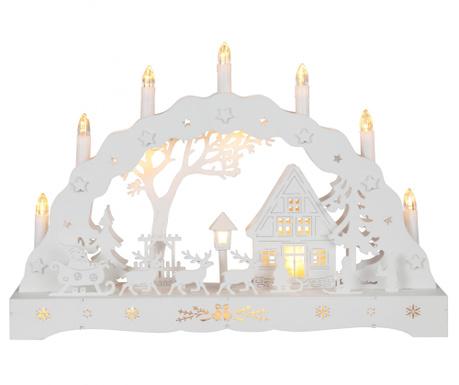 Светеща декорация Santa and Reindeers