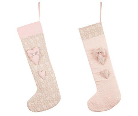 Комплект 2 декоративни чорапа Hearts
